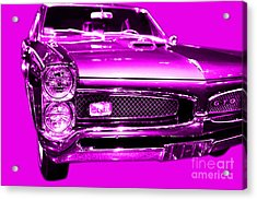 Pontiac Gto Magenta Acrylic Print by Wingsdomain Art and Photography