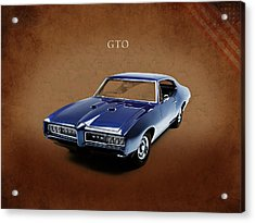 Pontiac Gto Acrylic Print by Mark Rogan