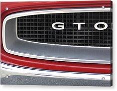 Pontiac Gto  Acrylic Print by Mike McGlothlen