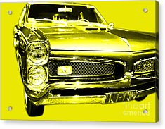 Pontiac Gto Yellow Acrylic Print by Wingsdomain Art and Photography
