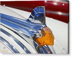 Pontiac Hood Ornament Acrylic Print by Larry Keahey