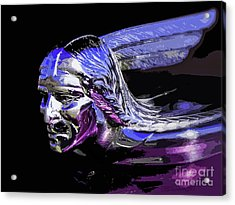 Pontiac Indian Head Hood Ornament Acrylic Print