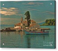Pontikonisi Corfu Acrylic Print