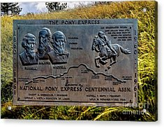 Pony Express Route Acrylic Print