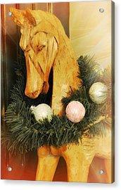 Pony For Christmas Acrylic Print by JAMART Photography