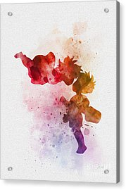 Ponyo Acrylic Print by Rebecca Jenkins