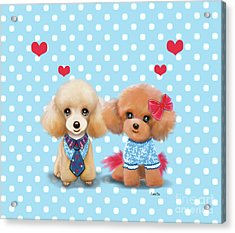 Poodles Are Love Acrylic Print by Catia Cho