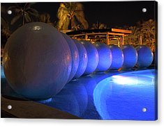 Acrylic Print featuring the photograph Pool Balls At Night by Shane Bechler
