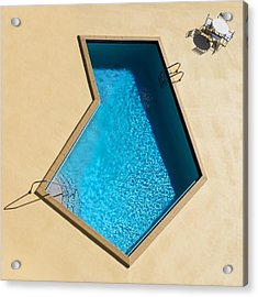 Acrylic Print featuring the photograph Pool Modern by Laura Fasulo