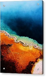 Pool Of Many Colors Acrylic Print by Russell  Barton