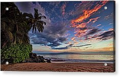 Poolenalena Sunset Acrylic Print by James Roemmling