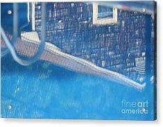 Poolhouse Acrylic Print by Amy Holmes