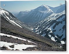 Pools Of Dee And The Angels Peak Acrylic Print