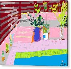 Poolside Acrylic Print