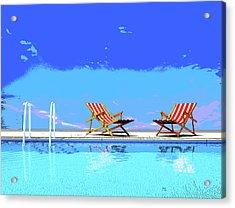 Poolside Chairs Acrylic Print