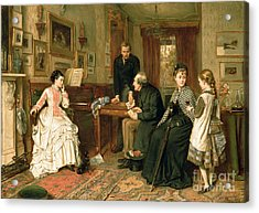 Poor Relations Acrylic Print by George Goodwin Kilburne