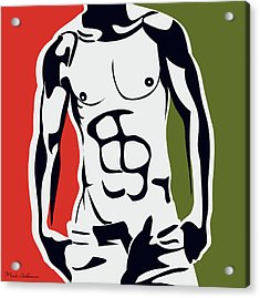 Pop Art Body  Acrylic Print by Mark Ashkenazi