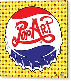 Pop Art Bottle Cap Acrylic Print