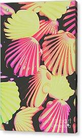 Pop Art From Fluorescent Beach Acrylic Print