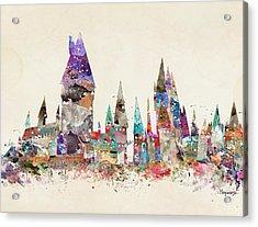 Pop Art Hogwarts Castle Acrylic Print by Bri B