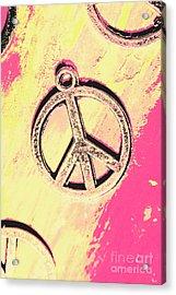 Pop Art In Peace Acrylic Print