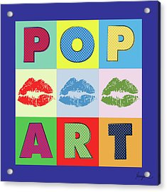 Pop Art Lips Acrylic Print by Gary Grayson