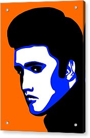 Pop Art Of Elvis Presley Acrylic Print by Nikita Ryazanow