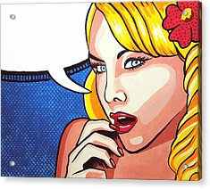 Pop Art Portrait Acrylic Print by Nolan Clark