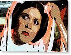 Pop Art Princess Leia Organa Acrylic Print