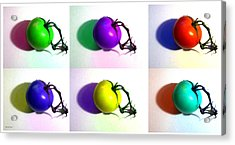 Acrylic Print featuring the photograph Pop-art Tomatoes by Shawna Rowe