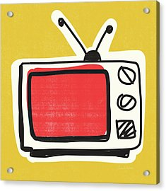 Pop Art Tv- Art By Linda Woods Acrylic Print