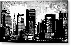 Pop City 32 Acrylic Print by Melissa Smith