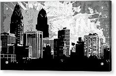 Pop City 37 Acrylic Print by Melissa Smith