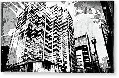Pop City 40 Acrylic Print by Melissa Smith