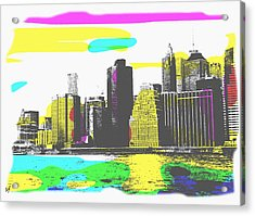 Pop City Skyline Acrylic Print