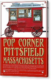 Pop Corner With History Acrylic Print by Len Stomski