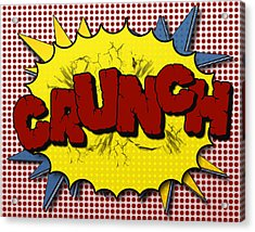 Pop Crunch Acrylic Print by Suzanne Barber