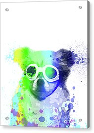 Pop Dog With Goggles Acrylic Print