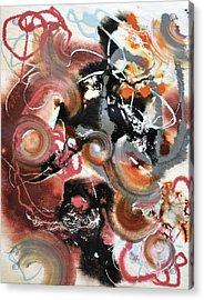 Pop Fluid No. 2 Acrylic Print by Sumit Mehndiratta