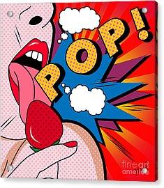 pop Acrylic Print by Mark Ashkenazi