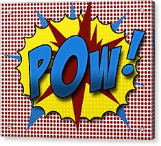 Pop Pow Acrylic Print by Suzanne Barber