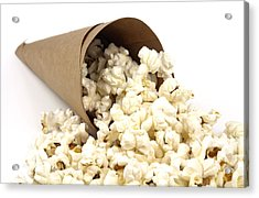 Popcorn In Paper Cone Acrylic Print by Blink Images