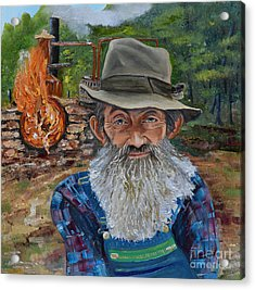 Popcorn Sutton - Rocket Fuel -white Whiskey Acrylic Print