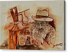 Popcorn Sutton - Waiting On Shine Acrylic Print