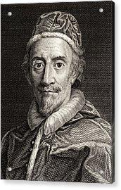 Pope Clemente Ix, 1600-1669 Pope Acrylic Print