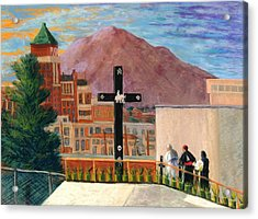 Pope Francis In Juarez Blessing El Paso Acrylic Print