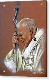 Pope John Paul. 2nd. Acrylic Print