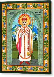 Pope John Xxiii Icon Acrylic Print by David Raber