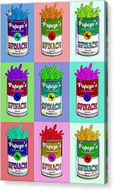 Popeye Warhol Acrylic Print