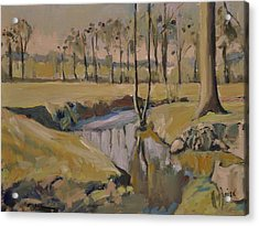 Poplars And Mistletoe Along The River Geul Cottessen Acrylic Print